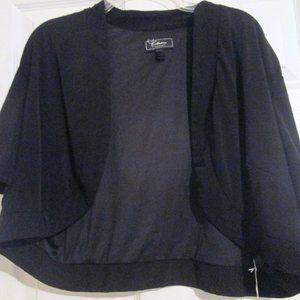 Dressbarn Black Short Sleeve Shrug Sz 24 (XXL)